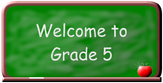 Welcome to Grade 5 Banner